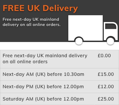 Techbuyer Free UK Mainland Delivery