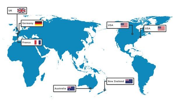 Techbuyer Global Locations